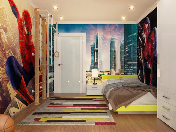 them here s a spiderman bedroom ideas that you can see for kids room 600x450
