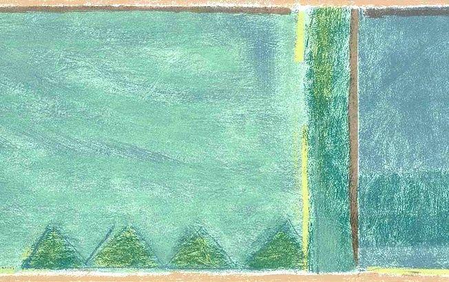 Blue Green Modern Wallpaper Border Geometric Shape Sterling MY3012B 652x410
