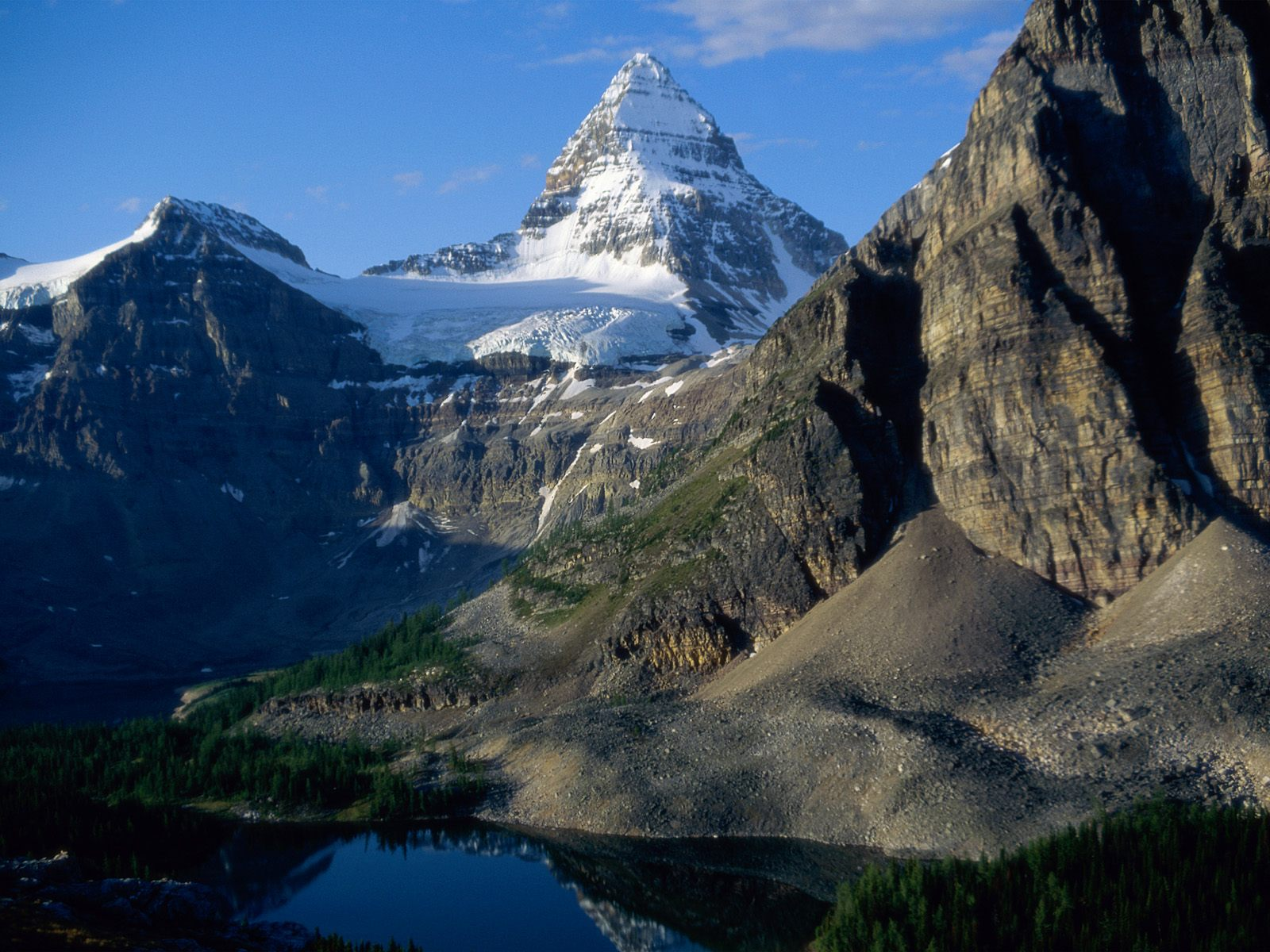Download Rocky Mountains wallpaper rocky snow mountain 1600x1200