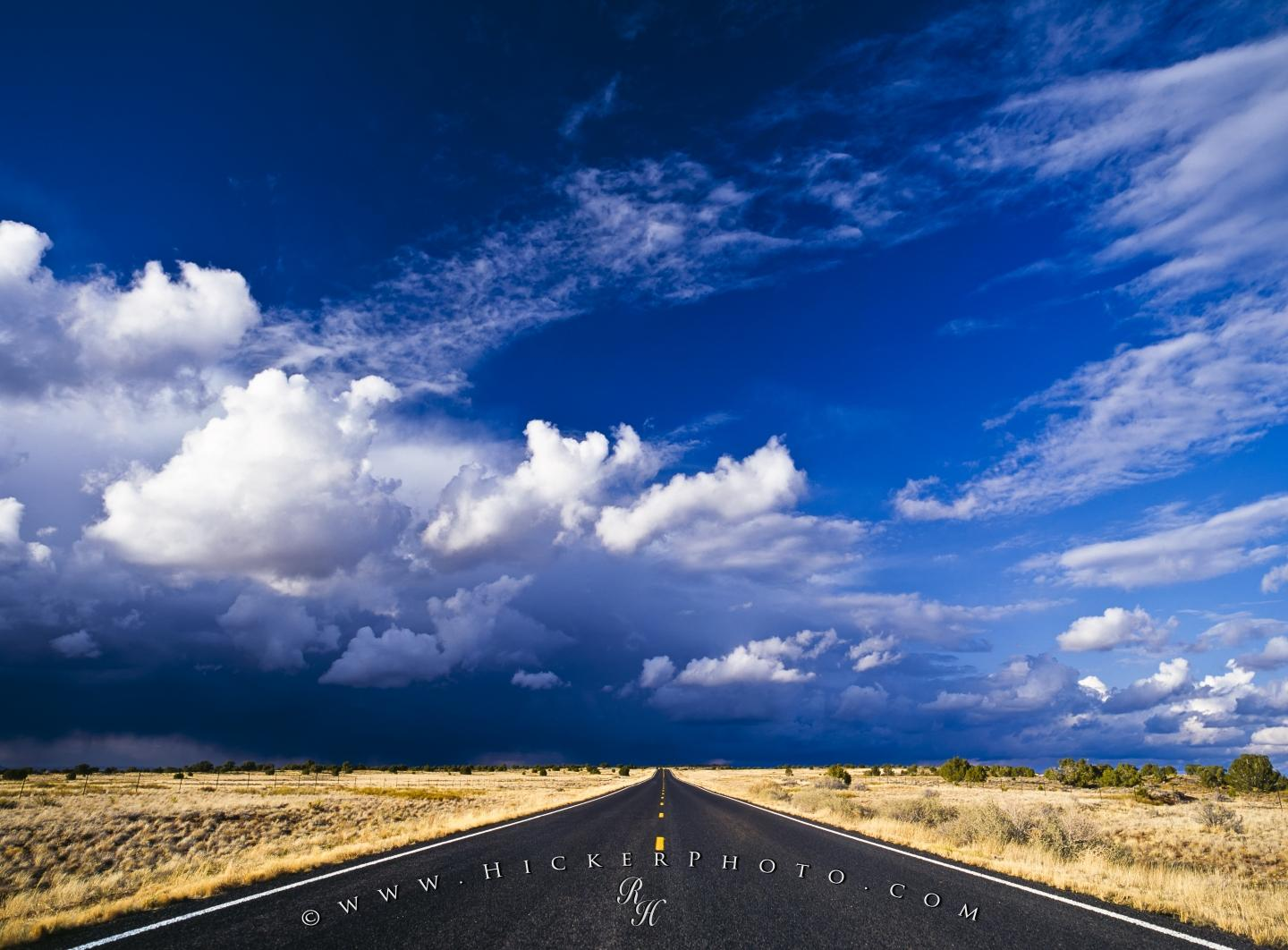 wallpaper background Endless Desert Road Storm Clouds New Mexico 1440x1062