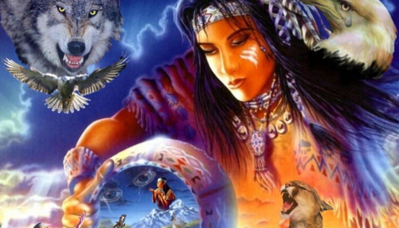 Native American Wolf Spirit Spirit of a native american 1400x800