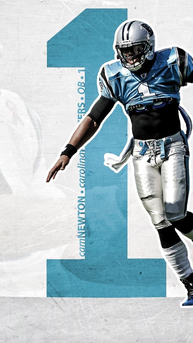 Cam Newton   Carolina Panthers Wallpaper for iPhone 5 640x1136