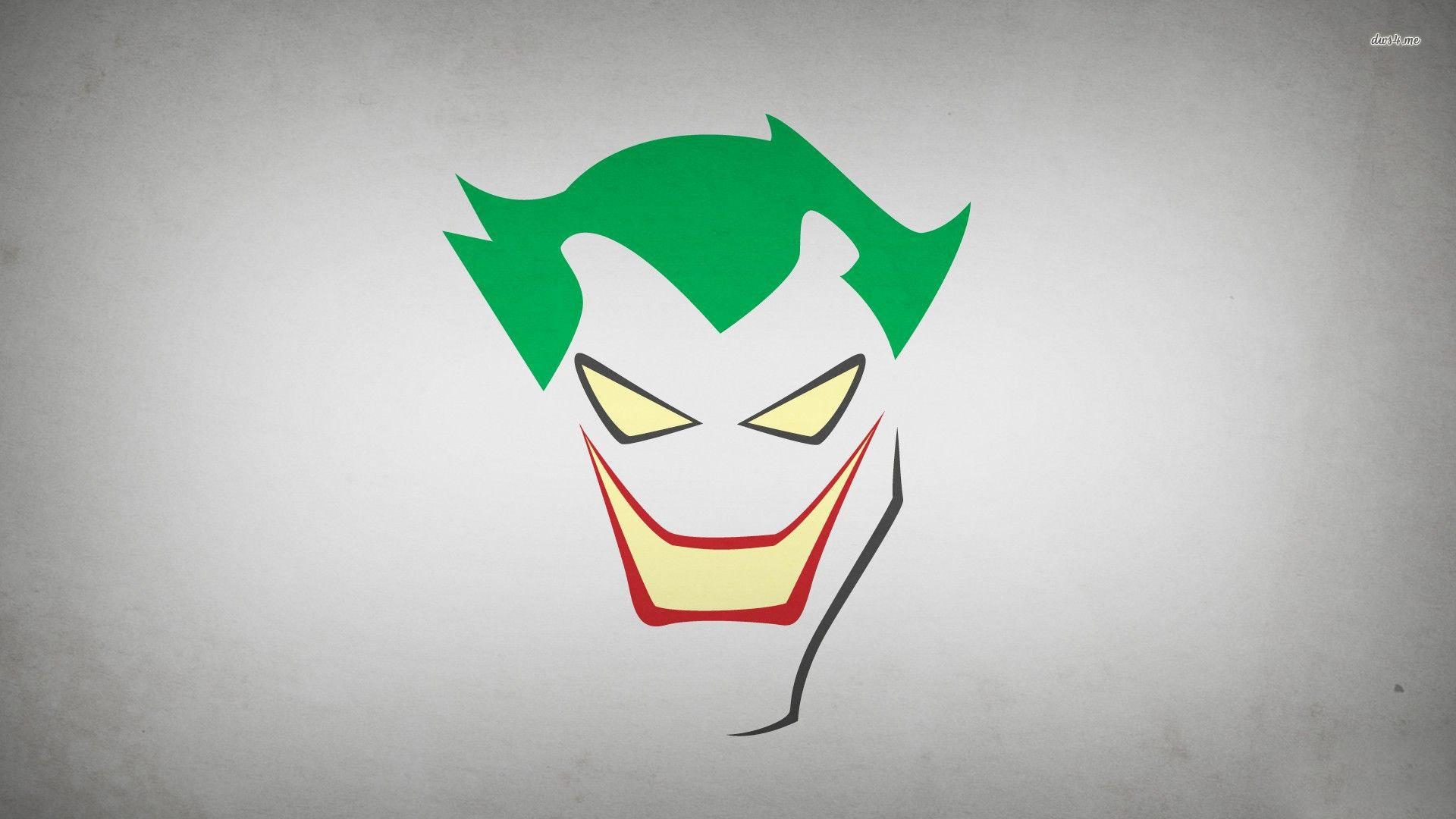 The Joker Minimalist Art HD Desktop Wallpaper Background 1920x1080