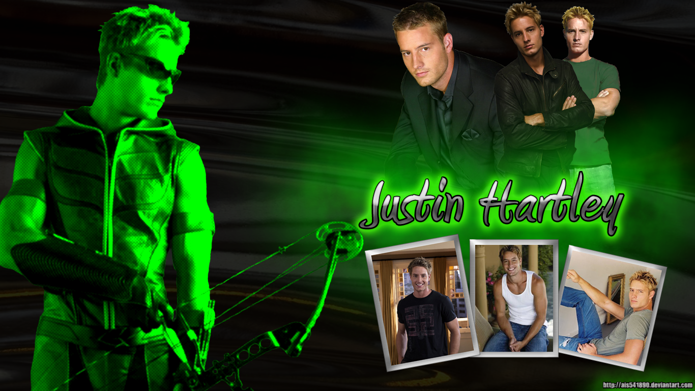 Oliver Queen   Green Arrow   Justin Hartley Wallpaper   Smallville 1366x768