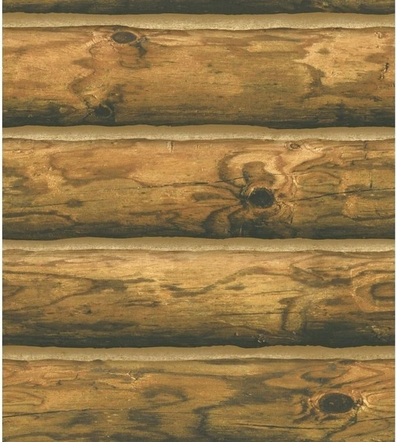 Lodge Wood Stripe Wallpaper   Rustic   Wallpaper   by The Fabric Co 574x640