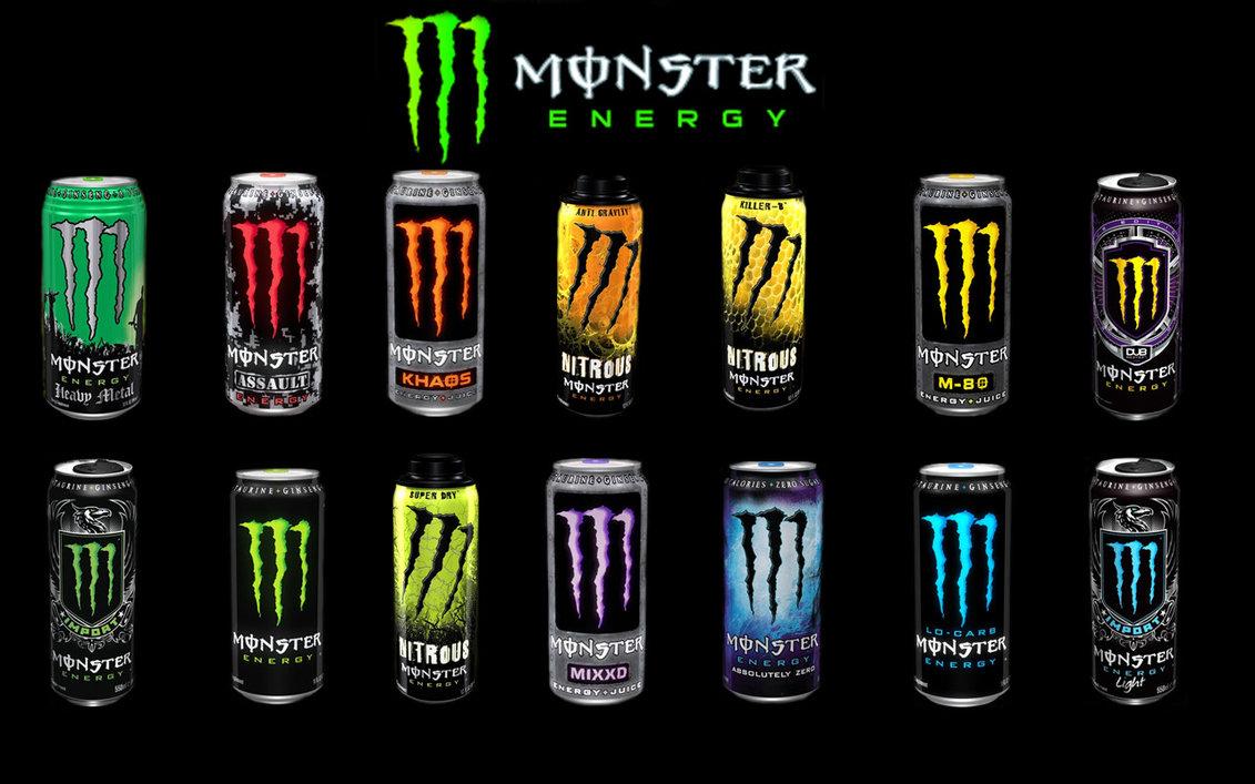 Blue Monster Energy Background