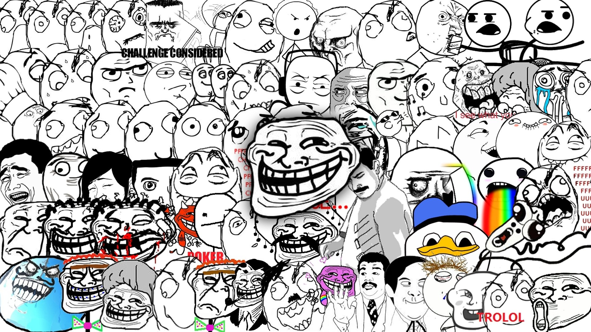 face trololo troll memes trolol 1920x1080 wallpaper Art HD Wallpaper 1920x1080
