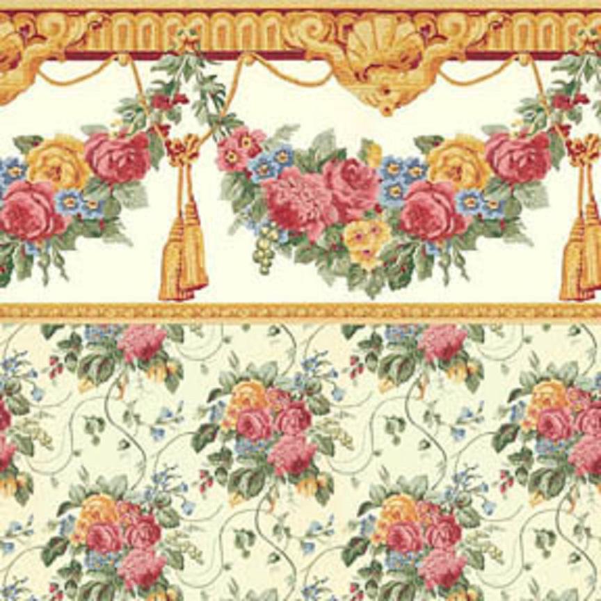 Yellow Dollhouse Wallpaper