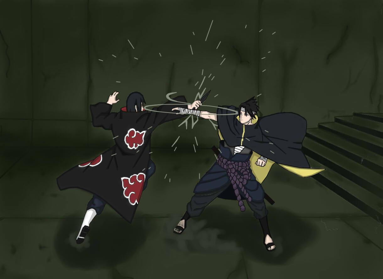 Itachi Vs Sasuke Wallpaper 9562 Hd Wallpapers in Anime   Imagescicom 1220x888