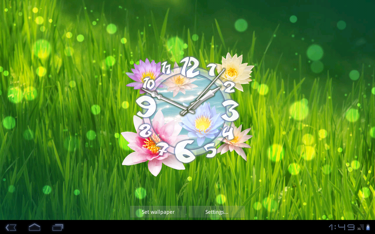Flower Clock Live Wallpaper   Android Apps on Google Play 1280x800