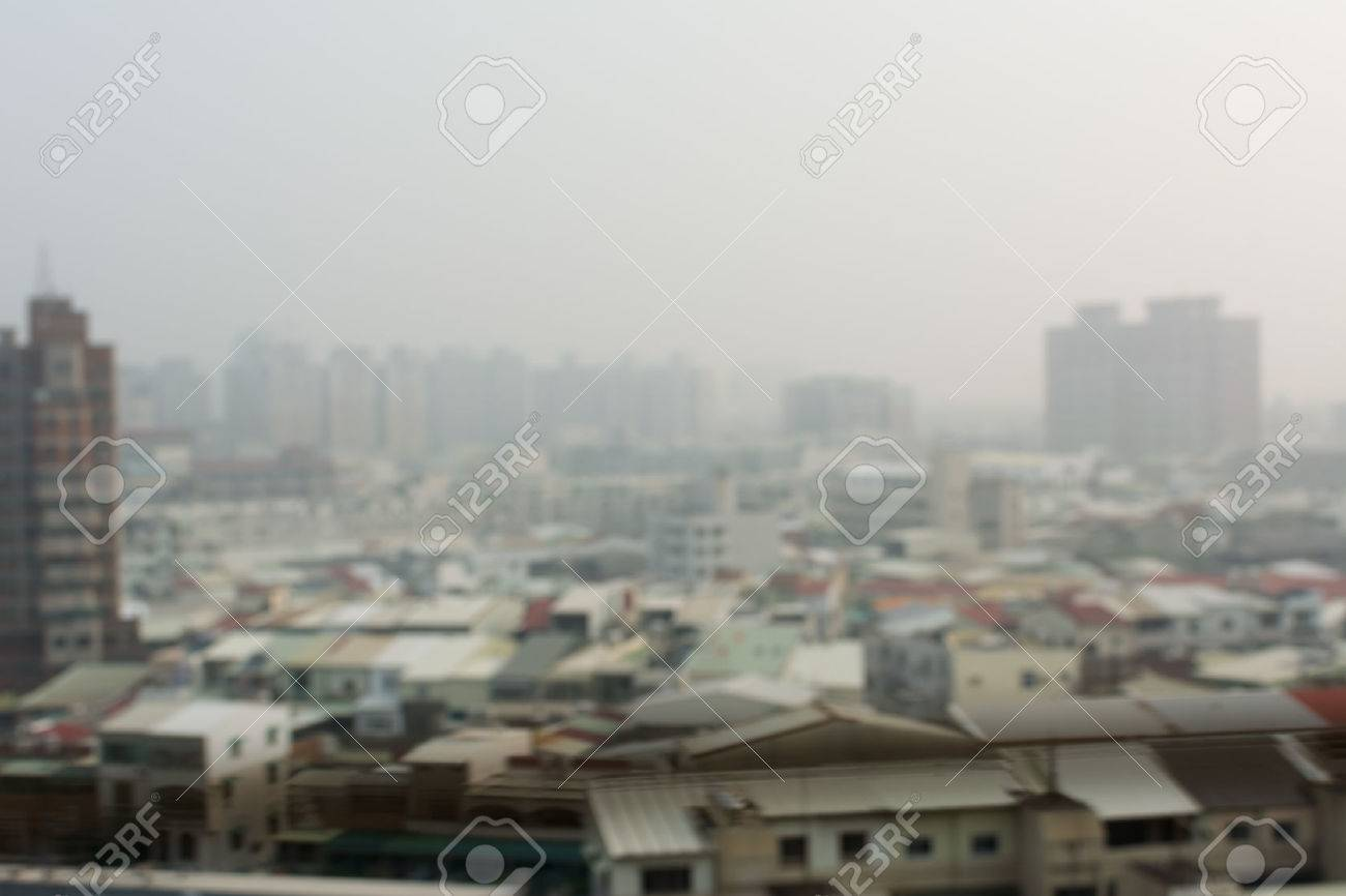Air Pollution Background With Abstract City Landscape Stock Photo 1300x866