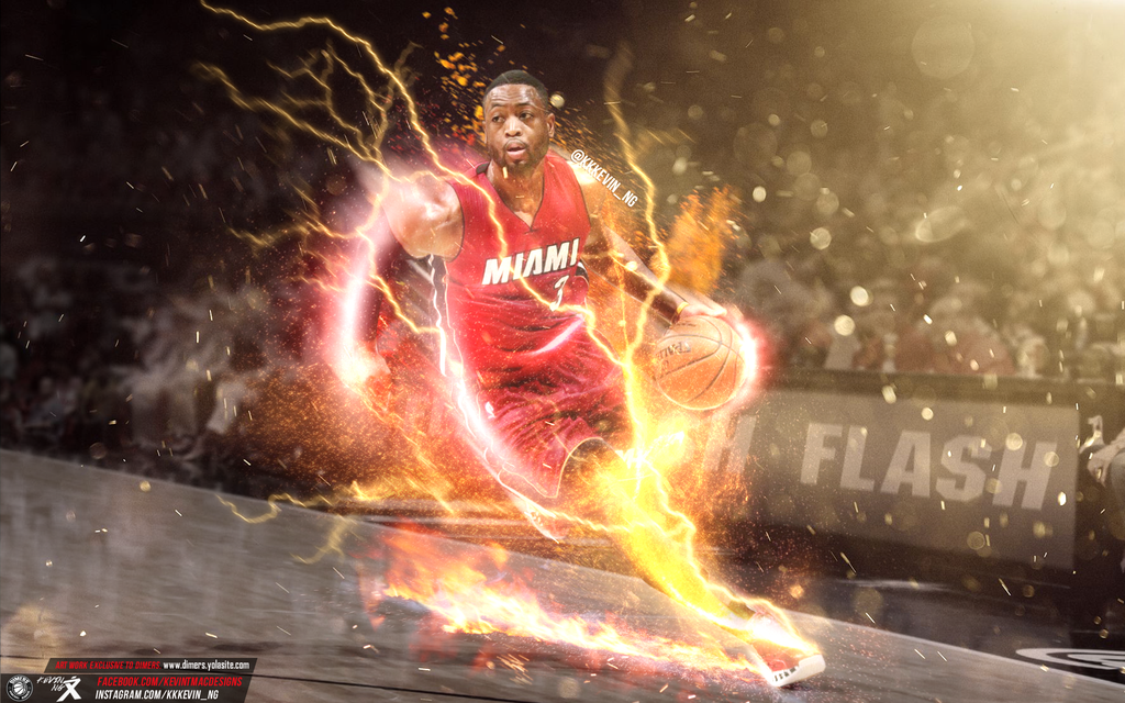 Dwyane The Flash Wade Wallpaper by Kevin tmac 1024x640