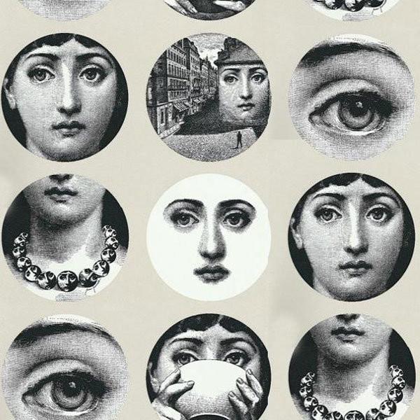 Fornasetti Tema e Variazioni Wallpaper   Modern   Wallpaper   los 600x600