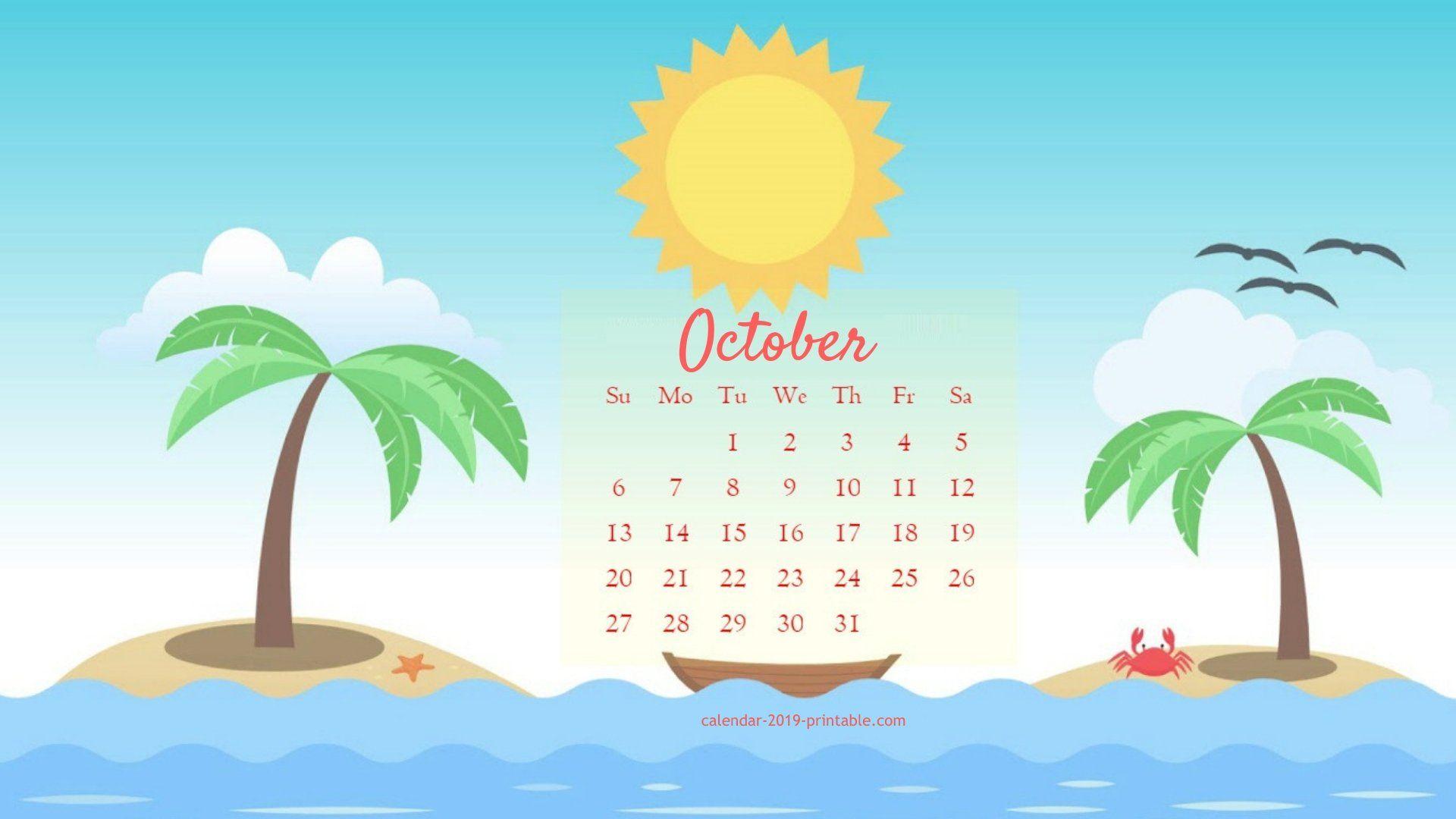 october 2019 cute calendar wallpaper Calendar 2019 Wallpapers 1920x1080
