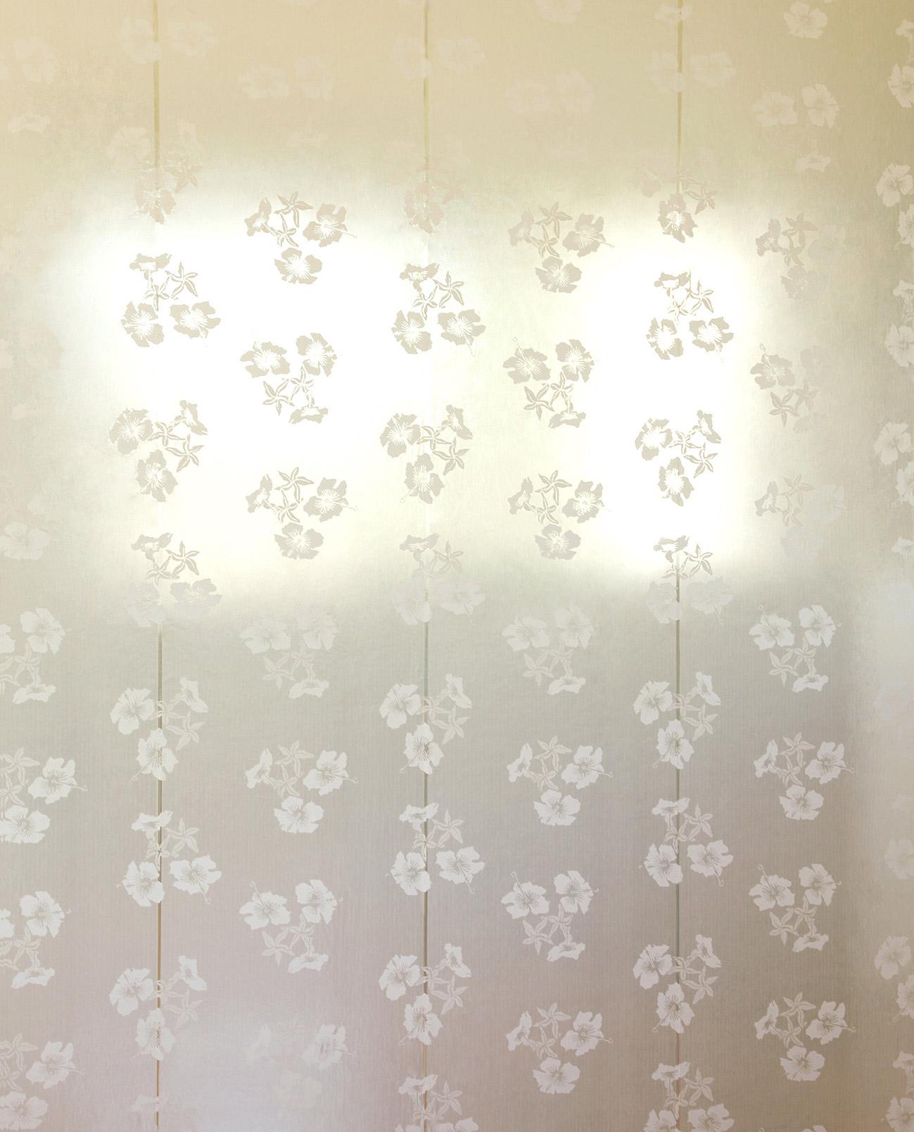 Erica Wakerly Hibiscus cream gold Wallpaper 1299x1608