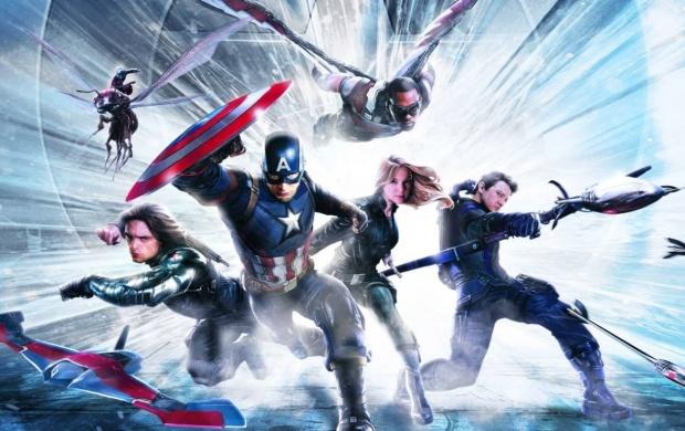 Captain America Civil War Team Art click to view 620x390