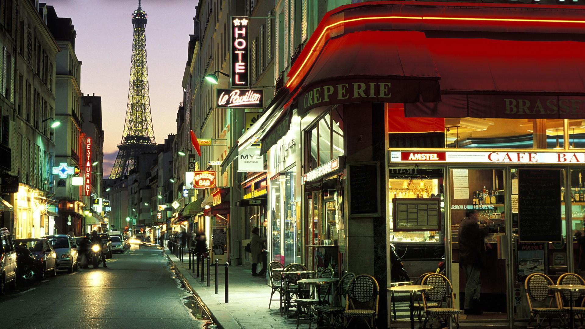 Paris Cafe Wallpaper HD Desktop Wallpapers 1920x1080