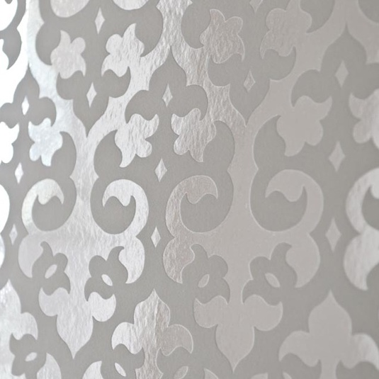 silver and white damask wallpaper   Damask Wallpaper Designs by Graham 535x535