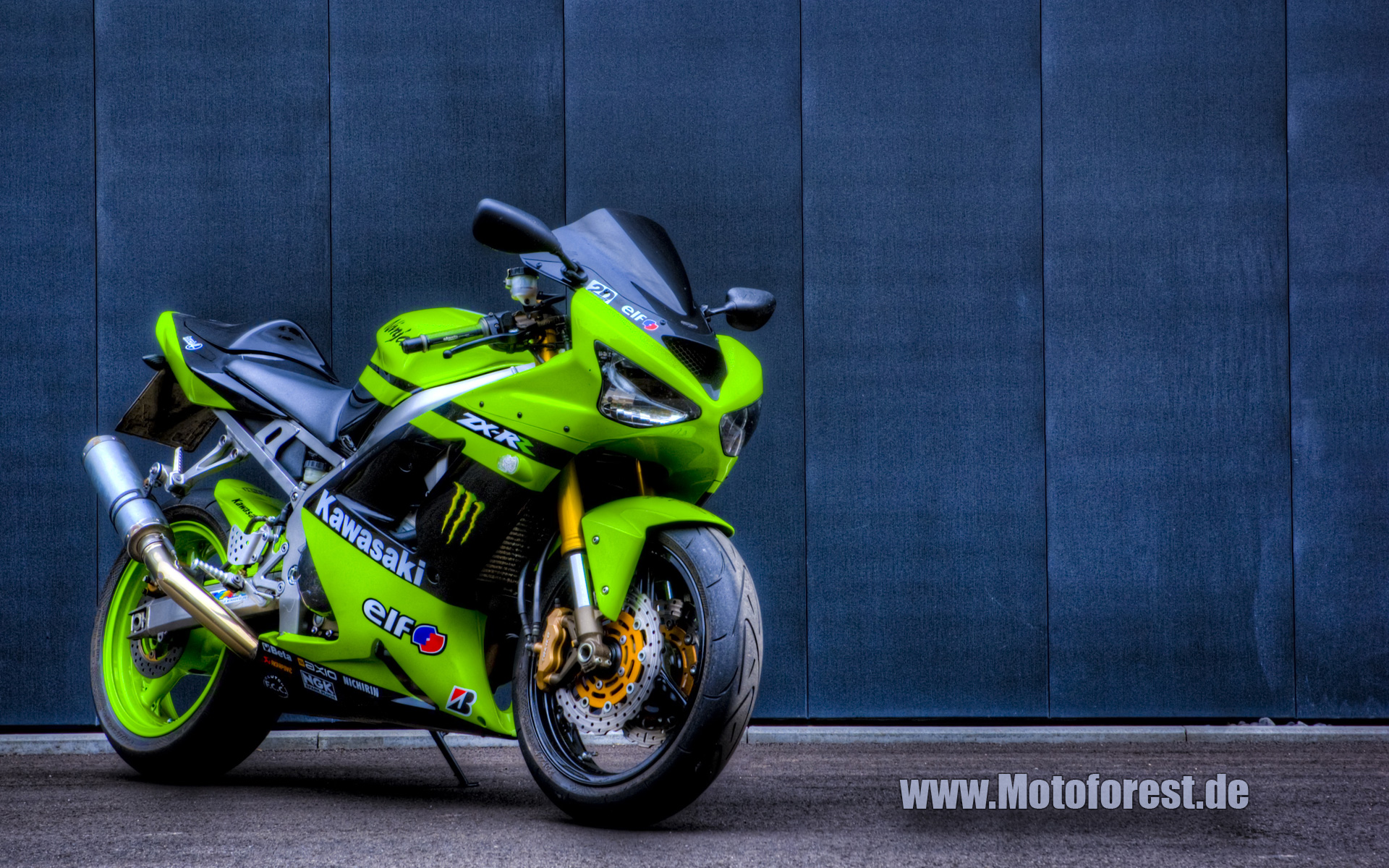 download Kawasaki ZX6R Wallpaper Hintergrundbild HDR 1920x1200