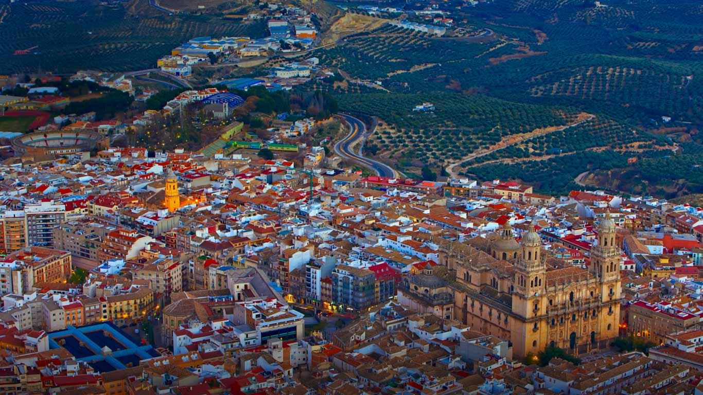 City of Jan in Andalucia Spain Rolf Hicker PhotographyAlamy 1366x768