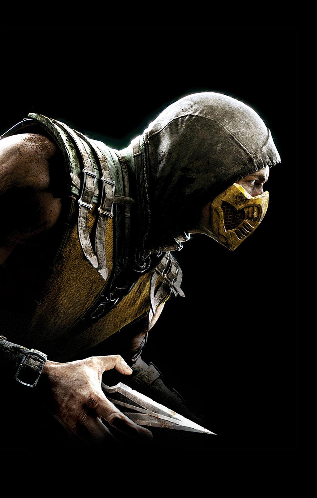 Free download Mortal Kombat X Scorpian phone wallpaper by Reginaught