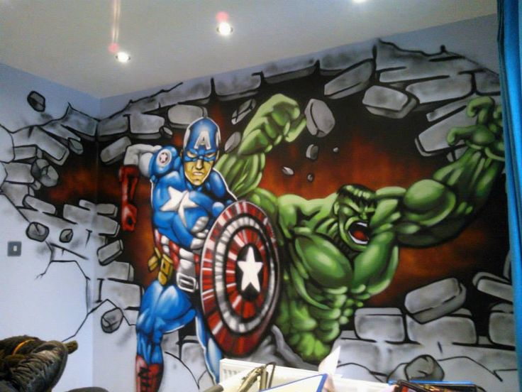 Dulux Avengers Bedroom In A Box: [50+] Marvel Wallpaper For Boy Room On WallpaperSafari