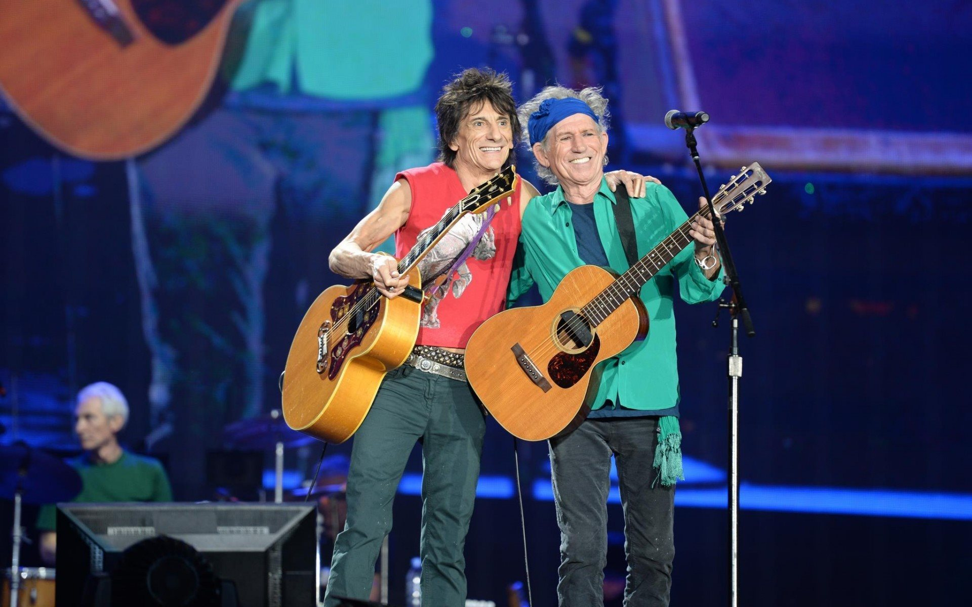 Download wallpapers the rolling stones ron wood keith richards 1920x1200