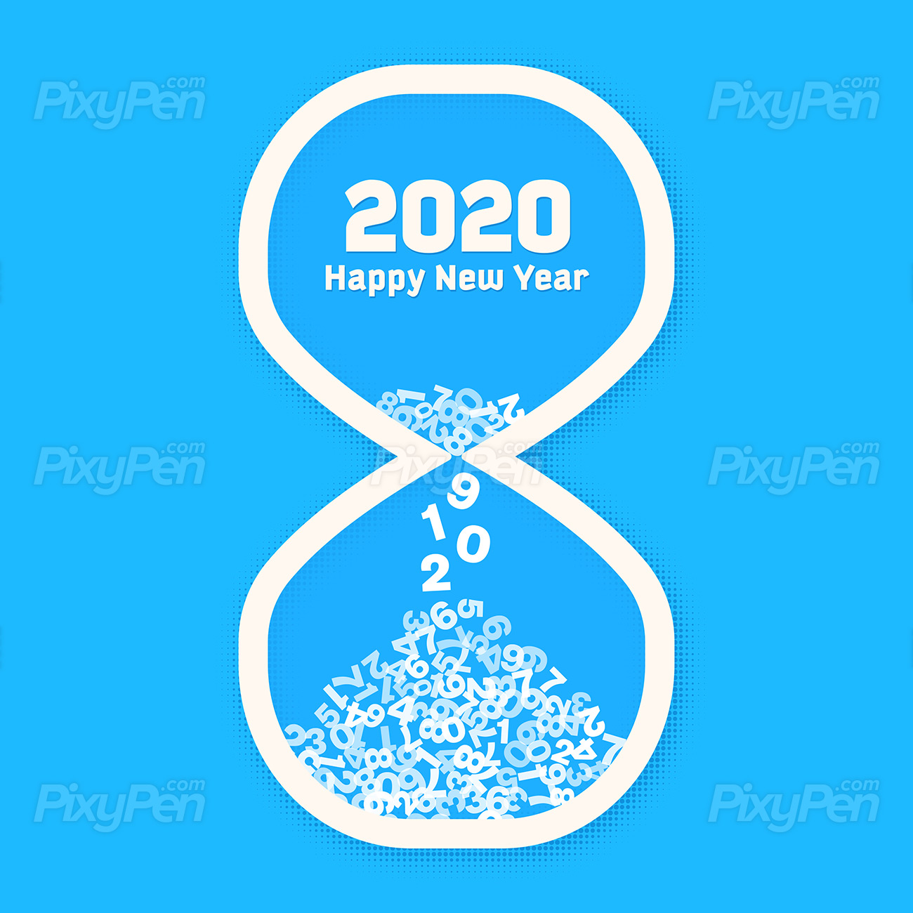 New Year 2020 countdown   Vector Illustration PixyPen 1300x1300