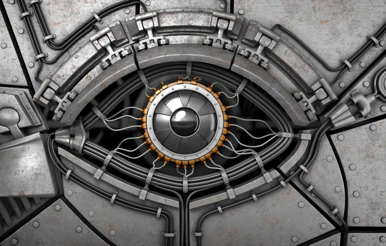 Wallpaper look metal abstraction eyes background interface 1332x850