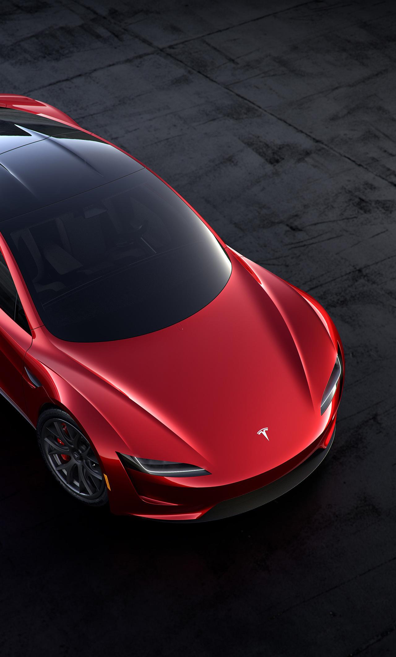 Tesla Roadster Wallpaper Mobile YME Cars Desktop HD Wallpapers 1280x2120