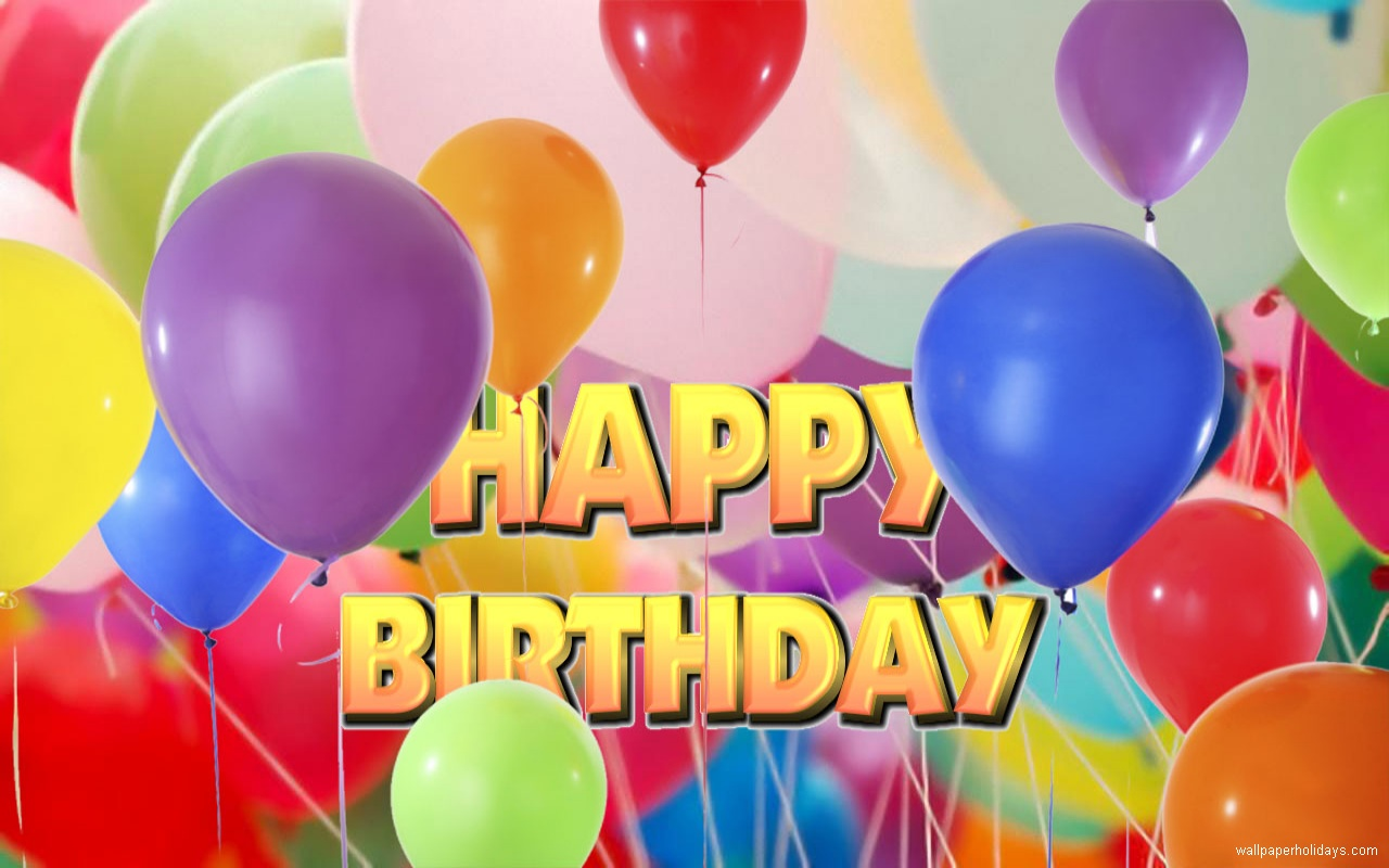 Happy Birthday Balloons Wallpaper Images Pictures   Becuo 1280x800
