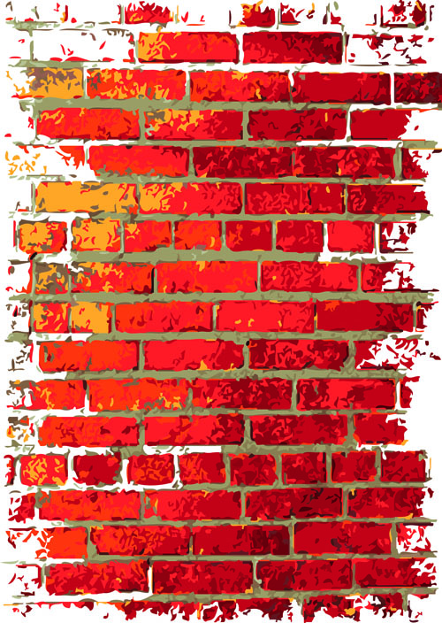 Free Download Cartoon Brick Wall With Graffiti Brick Wall Object