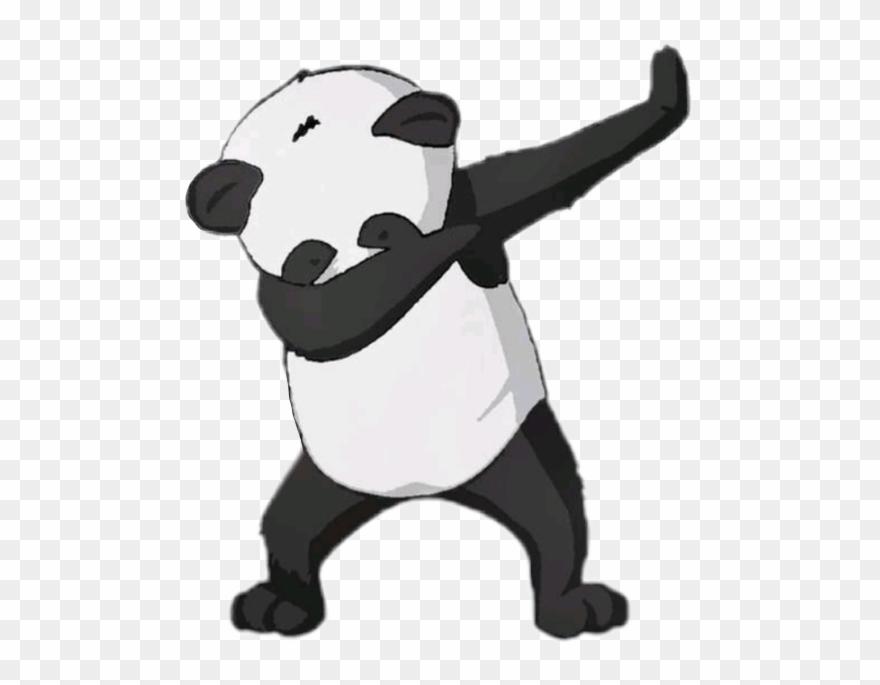 Pro Sticker   Panda Dabbing Transparent Background Clipart 880x685