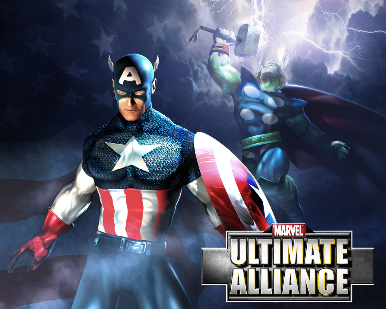 Marvel Ultimate Alliance Captain America by Bestgamewallpapers 1280x1024