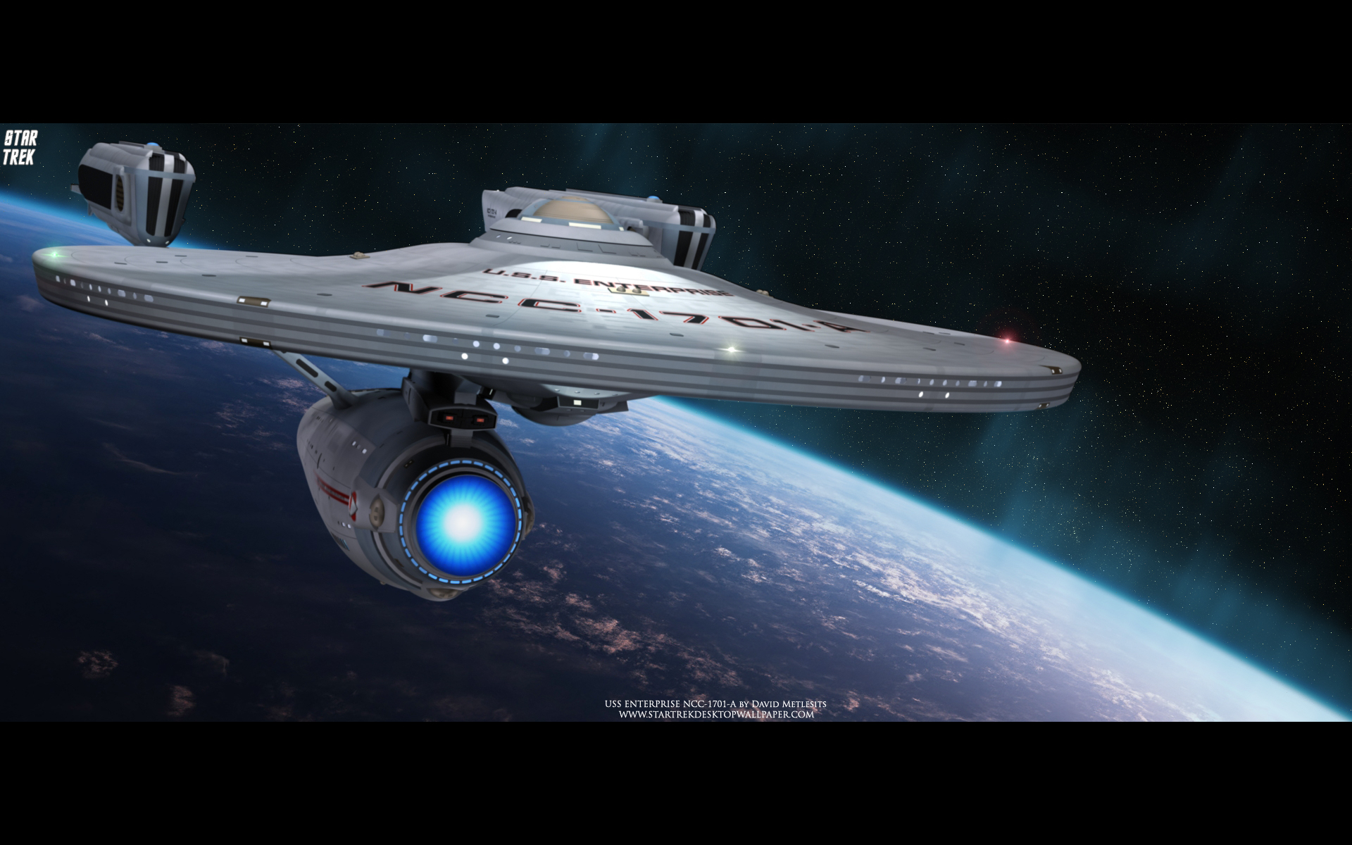 USS Enterprise NCC 1701 A   Star Trek computer desktop wallpaper 1920x1200