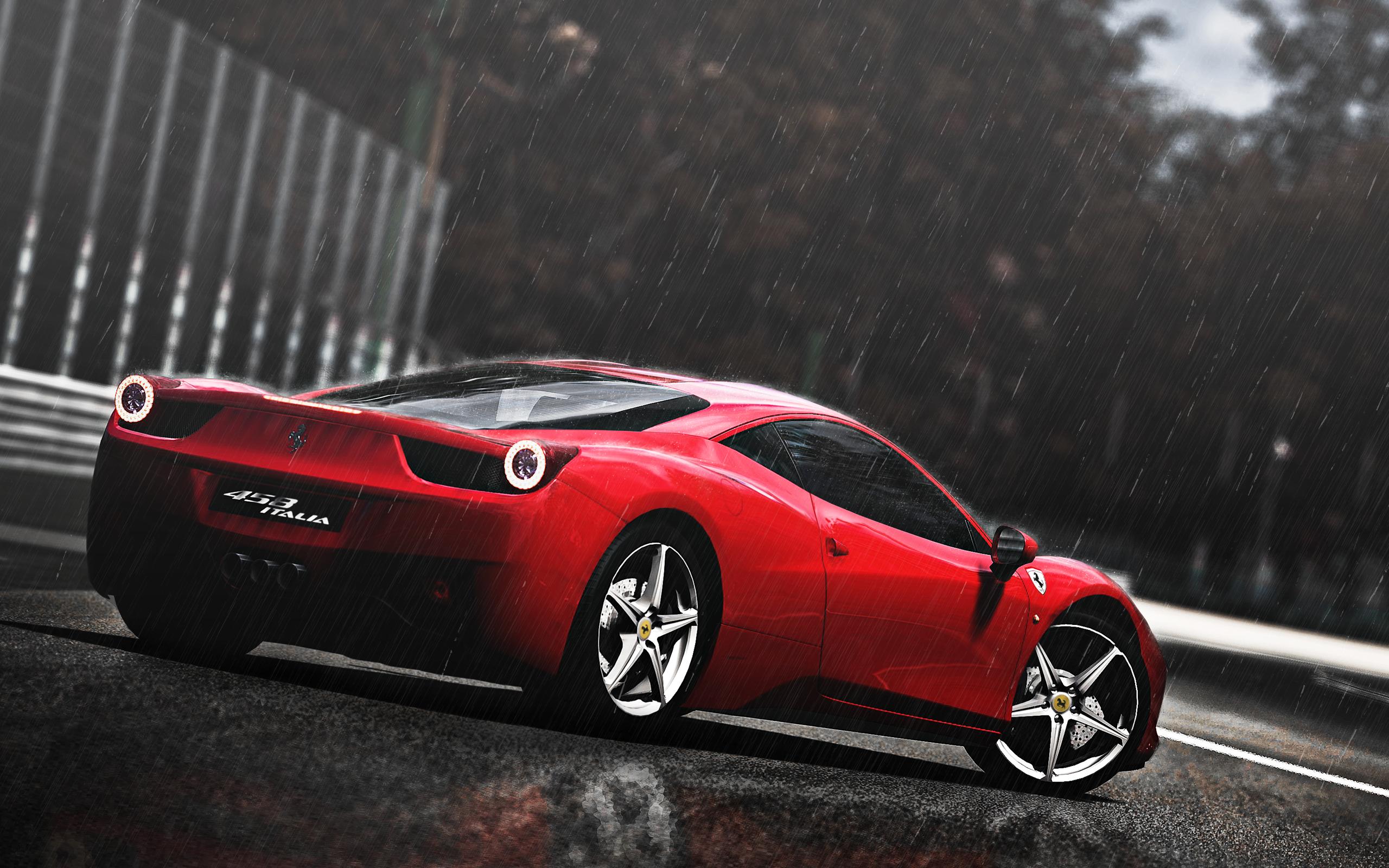 2560x1600 Ferrari 458 Italia in the Rain desktop PC and Mac wallpaper 2560x1600