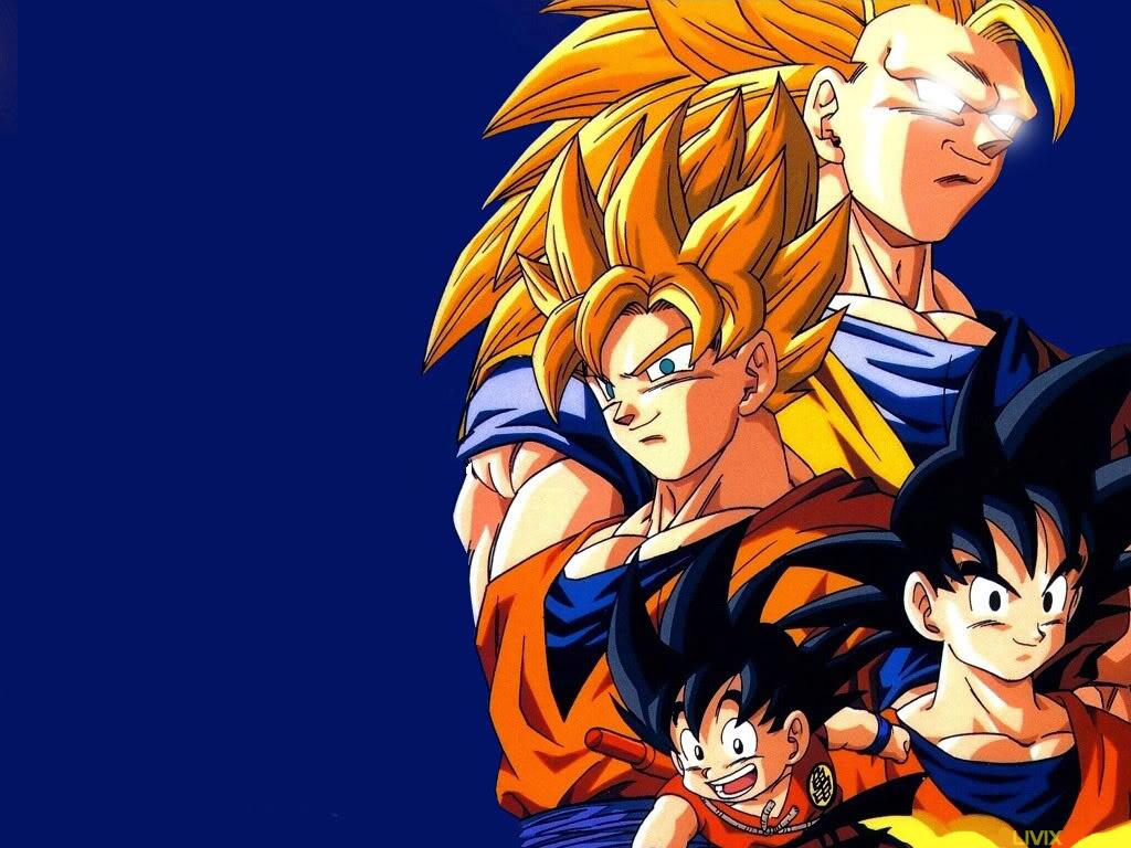 Sun Goku Wallpaper 1024x768