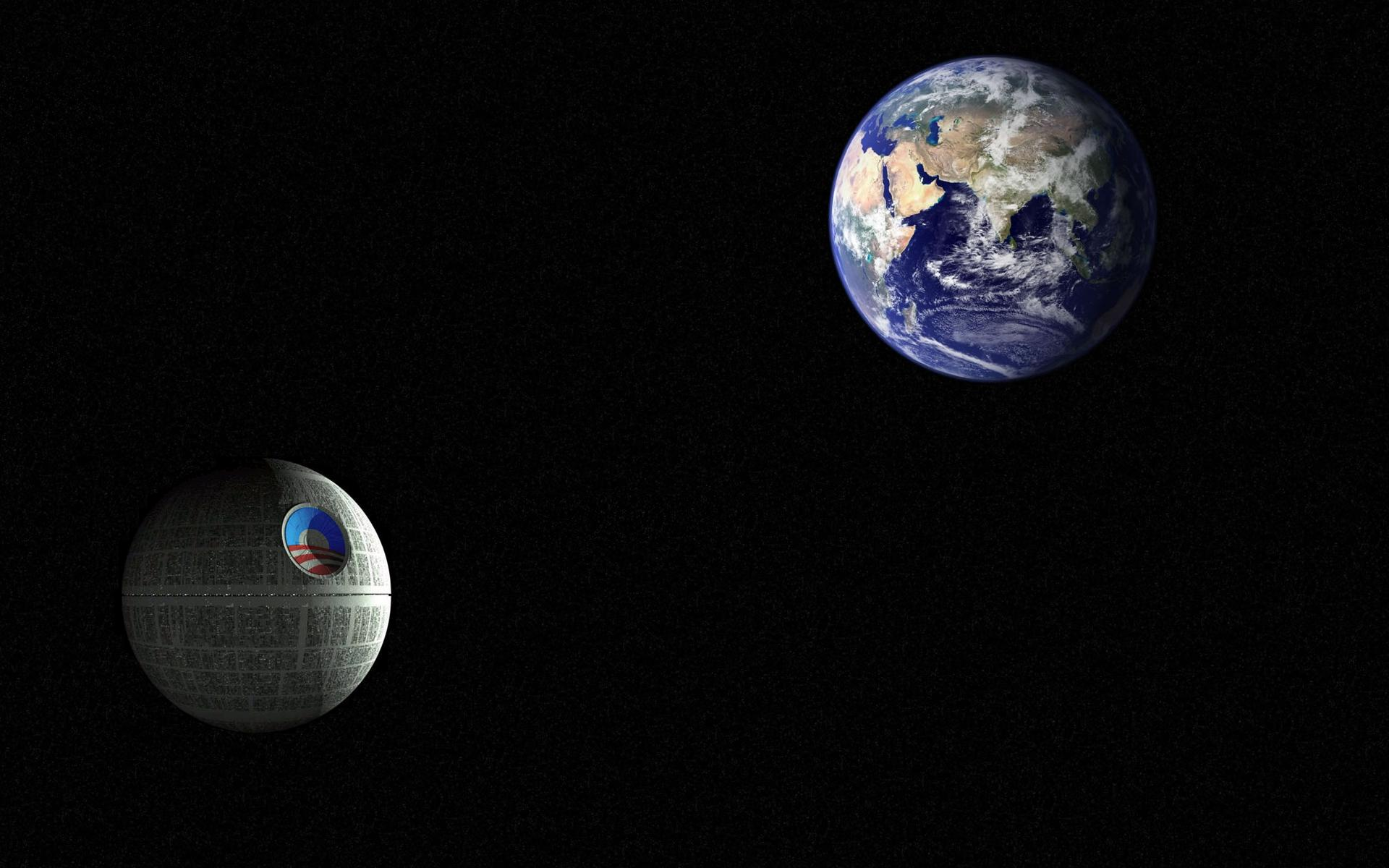 Background wallpaper wallpaper Obama Star Death Star ready to 1920x1200