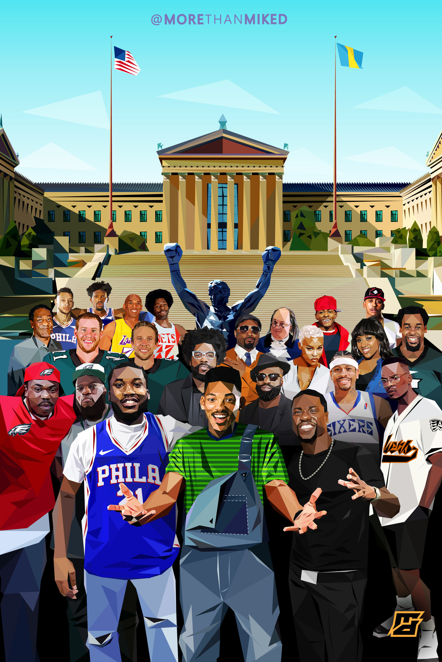 Philly Family Wallpaper MD Graphics Co 1500x2249