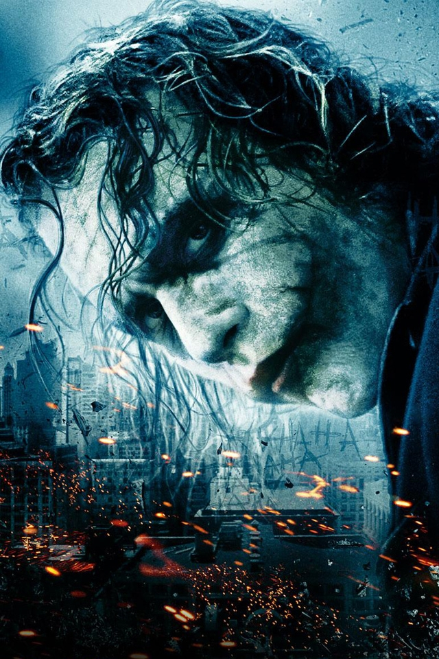 The Dark Knight Heath Ledger Joker IPhone HD Wallpaper 640x960