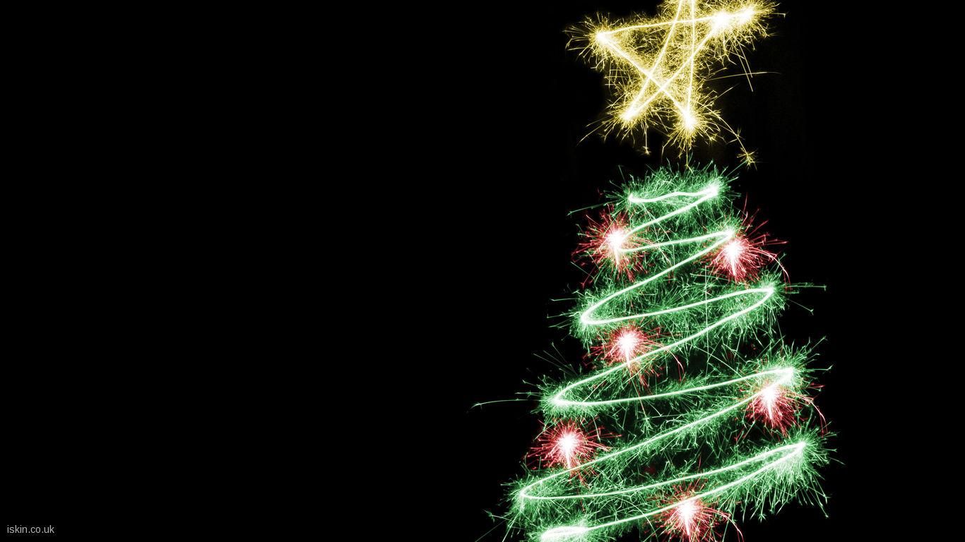 Christmas Tree Wallpaper Desktop Wallpaper iskincouk 1366x768