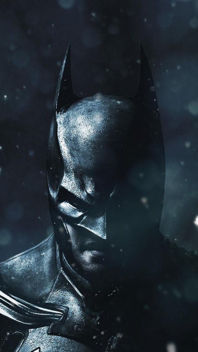Batman Winter Black iPhone 5 Wallpaper iPod Wallpaper HD 640x1136