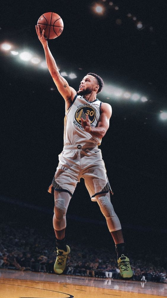 steph curry wallpaper HD image jump basketball in 2020 Stephen 564x1002