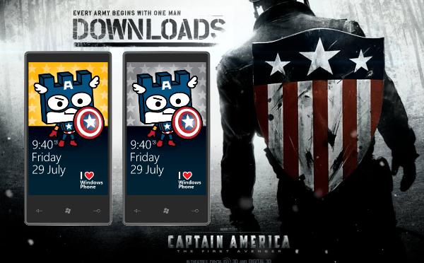 Custom cute Capt America wallpaper for your Windows Phone Windows 600x372