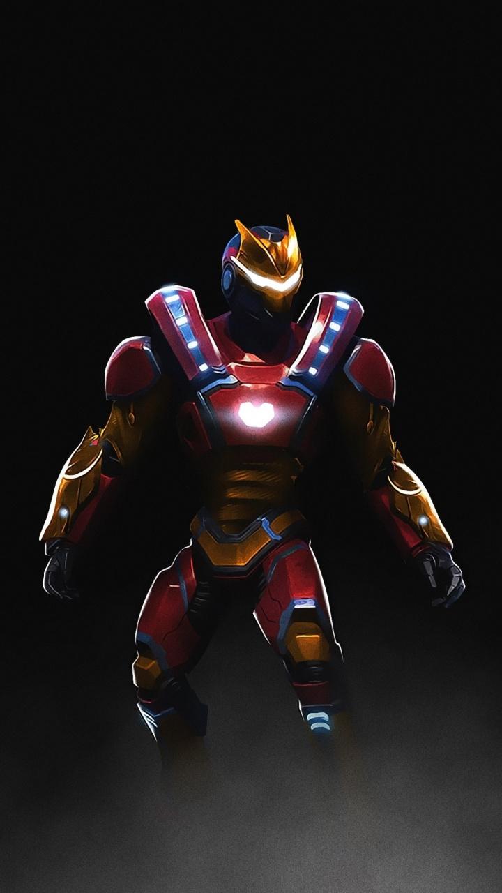 Download 720x1280 wallpaper fortnite video game iron man skin 720x1280
