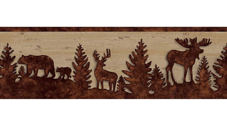 Chesapeake TLL35711B Shawnee Silhouettes Wallpaper Border 1500x833