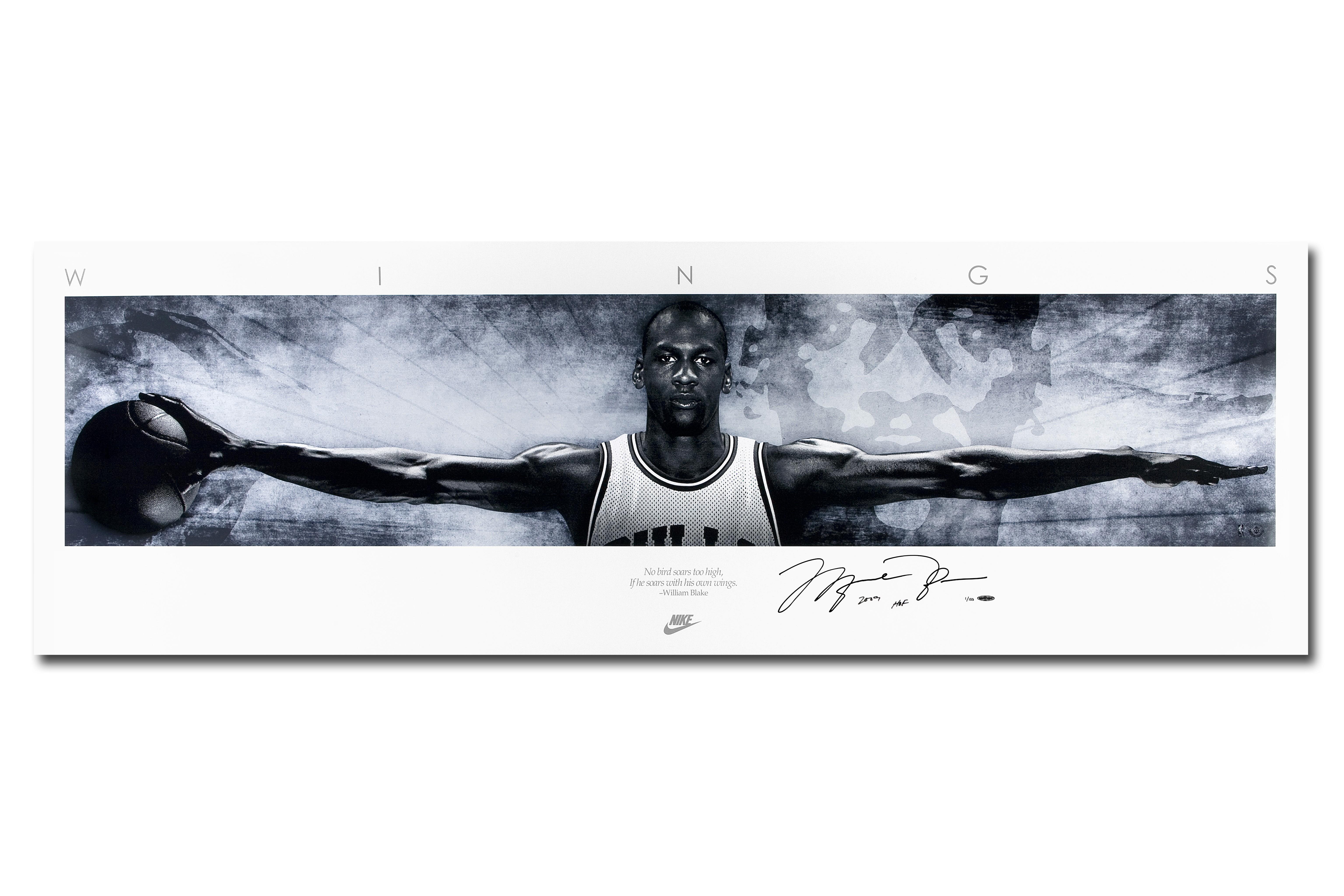 Michael jordan wings poster with frame
