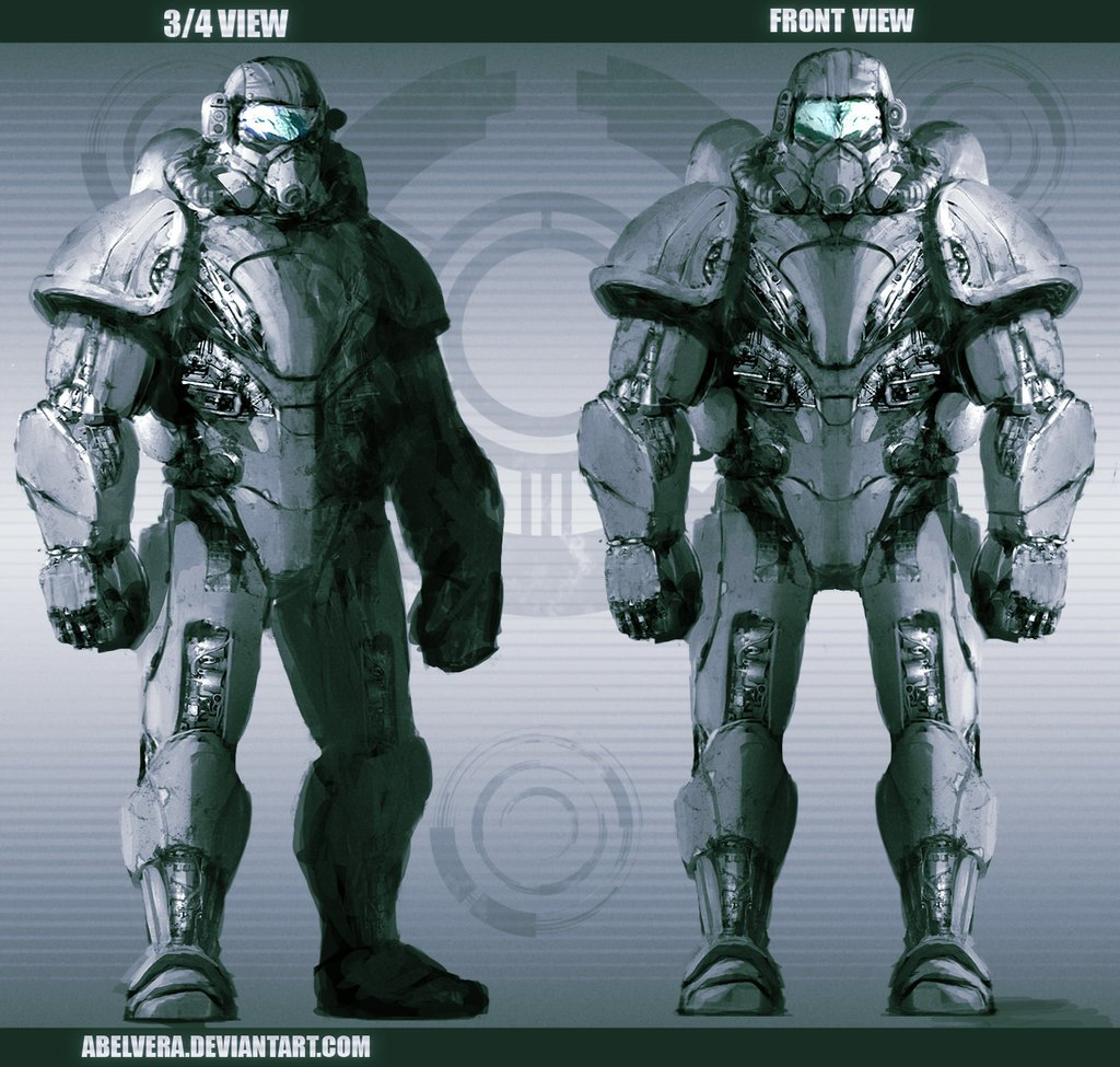 Free download Power Armor Concept by AbelVera [1024x975] for your