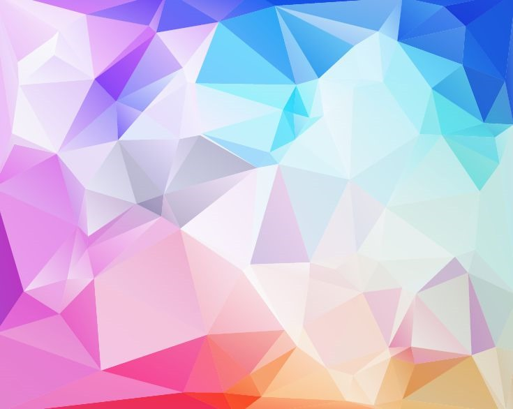 Abstract Low Poly Background Vector Illustration Vector 735x586