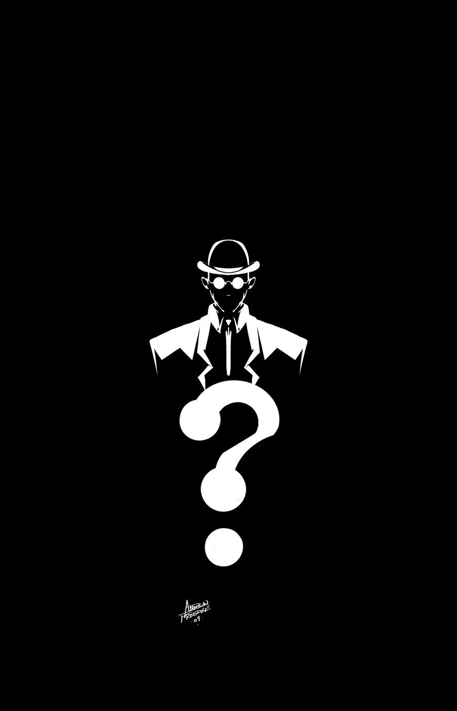 The Riddler Question Mark Wallpaper Riddler by andrewfroedge 900x1400